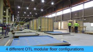 Different modular floor configurations