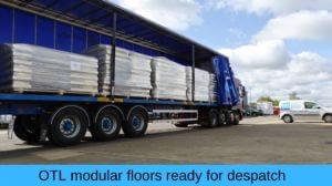 Modular floors despatched