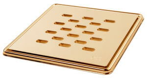 Square Slotted Gold