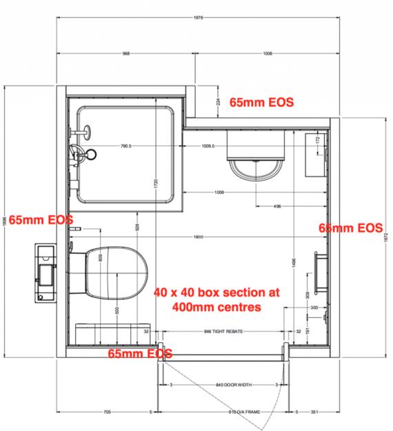 DNRC Case Study | Bathroom Drawing