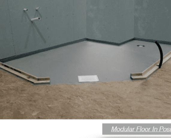 on the level   modular floor   flooring in position