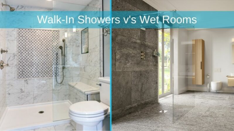 What is the difference between a Walk-In Shower and a Wet Room
