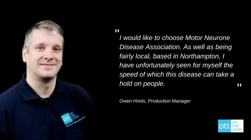 MND Association Charity Donation | On The Level | Blog